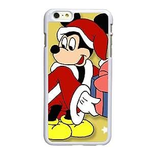 Funda iPhone 6 6S Plus de 5.5 pulgadas de caso funda de teléfono celular blanco Mickey-Mouse J7X2LD