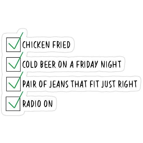 B. Strange Mall Chicken Fried Checklist Stickers (3 Pcs/Pack)