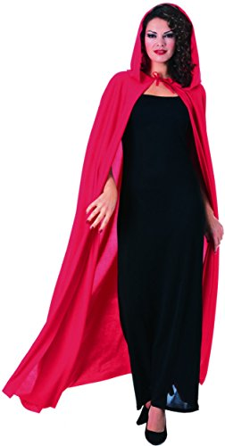 Big Bad Wolf In Grandma Dress Costumes (Rubie's Costume Full Length Hooded Cape Costume, Red, One Size)