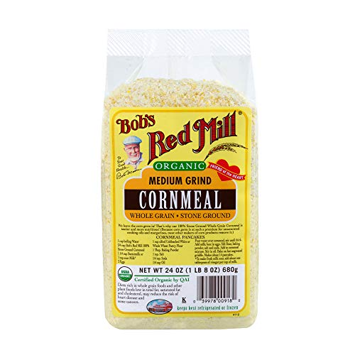Bob's Red Mill Organic Medium Grind Cornmeal, 24 Oz (4 ()