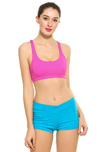 Ekouaer Crossback Seamless Wirefree Support