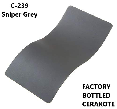 Graphite Gray Series - CERAKOTE C-Series - Air Cure Firearm Coating - Factory Packaged 4 OZ Bottle (C-239: Sniper Gray)