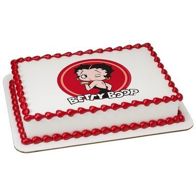 Betty Boop Licensed Edible Cake Topper #58191: Amazon.com: Grocery ...
