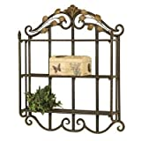 Metal Wall Shelf (Oil Rubbed Bronze / Dusted Gold) (28''H x 23''W x 5''D)