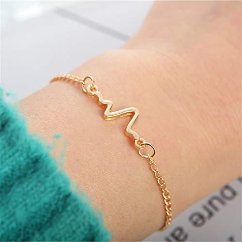 (Arrow Open Bracelets Gold Silver Black Triangle Geometric Bangle Women Simple Jewelry)