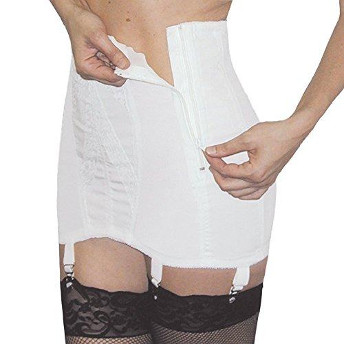Rago Extra Firm Side Zip Open Bottom Girdle Style 443 - White - 8XLarge