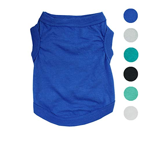Alroman Dogs Shirts Vest Dark Blue Clothing for Dogs Cats Medium Dog Vacation Shirt Male Dog Clothing Puppy Summer Clothes Boy Cotton Summer Shirt Small Dog Cat Pet Clothes Vest T-Shirt Apparel