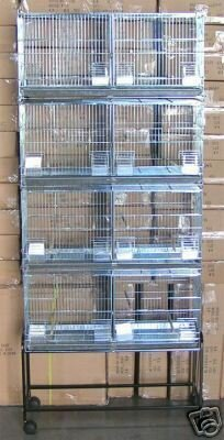 Double Breeder - COMBO: LARGE Stack and Lock Double Breeder Cage Bird Breeding Cage With Removable Divider And Breeder Doors 4 Of 30