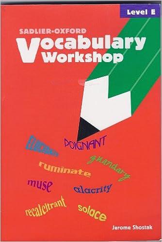 Vocabulary Workshop Level E 9780821576106
