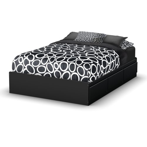 South Shore Storage Full Bed Collection 54-Inch Full Mates Bed Pure Black  sc 1 st  Amazon.com & Bed Frames with Storage Drawers: Amazon.com