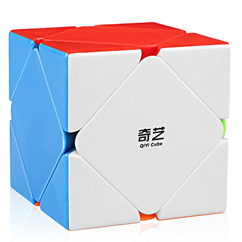 D-FantiX Qiyi Qicheng Skewb Speed Cube Stickerless Magic Cube Puzzle Toys for Kids (QiCheng Version)