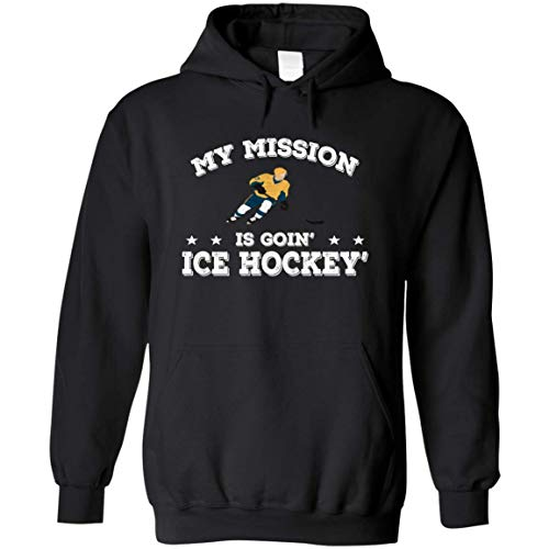 Libitusgift Unisex My Mission is Going Ice Hockey Winter Sport Hoodie (Black, 4XL) (Mission Hockey Hoodie)
