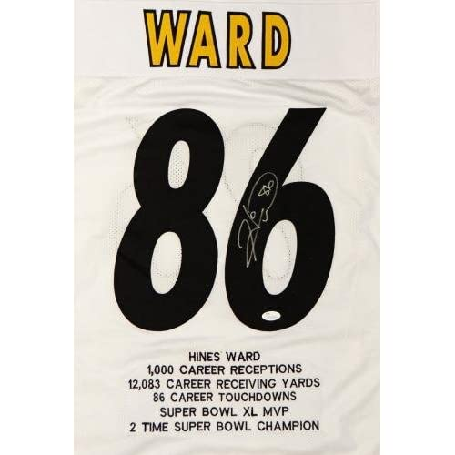 promo code d896b 04c0c Hines Ward Signed Jersey - White Pro Style w Stats Witnessed ...