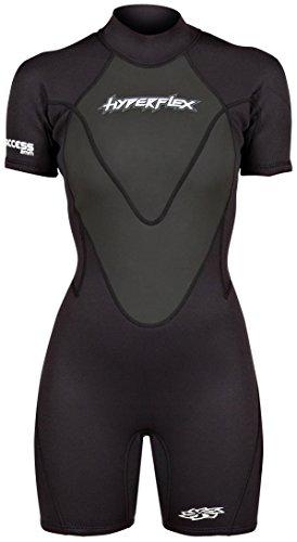 - Hyperflex Wetsuits Women's Access 2.5 mm Back Zip Spring - (Black, 12)