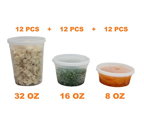 Food Storage Containers With Lids Round Plastic Deli Cups