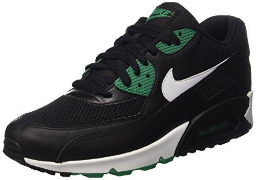 Nike Hommes Air Max 90 Faible Dessus Essentiel, Blanc, Noir 46 Eu
