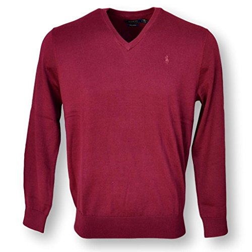Polo Ralph Lauren Men/'s Pima Cotton V-Neck Pony Sweater