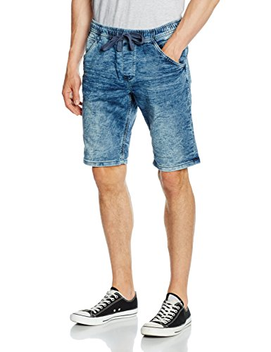 TOM TAILOR Denim Herren Sport Shorts Aedan Slim Blue Jogger Bermuda, Blau (Light Stone Wash Denim 1051), 56 (Herstellergröße: XXL)