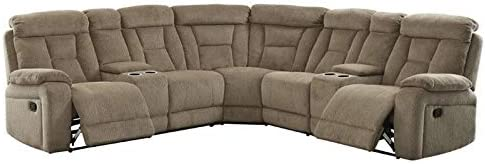 BOWERY HILL Reclining Sectional in Mocha