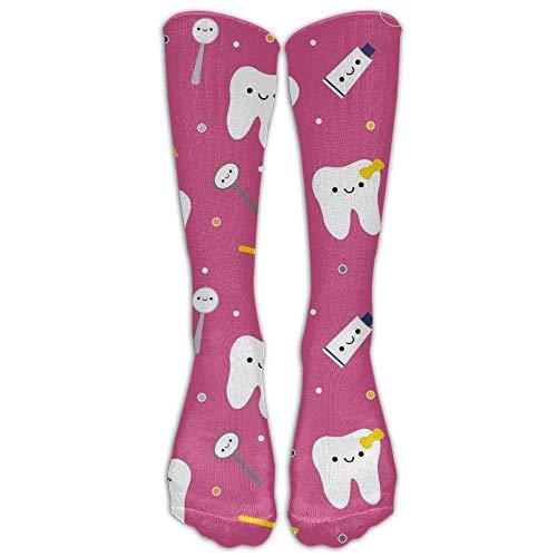 PIHJE Socks Long 50cm NEW Dentistry Happy Teeth Friends Compression Socks For Athletic Tube Stockings Women's Men's Classics Knee High Socks Sport Long Sock One Size