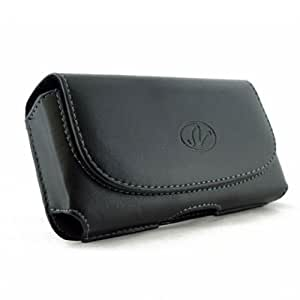 Leather Sideways Horizontal Belt Clip Case Pouch Cover for Huawei Ascend D Quad XL NEW!