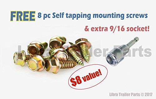 Libra Set of 2 7500 lb Heavy Duty 24'' RV Trailer Stabilizer Leveling Scissor Jacks w/handle & Dual Power Drill Sockets & hardware -Model# 26037 … by Libra (Image #3)