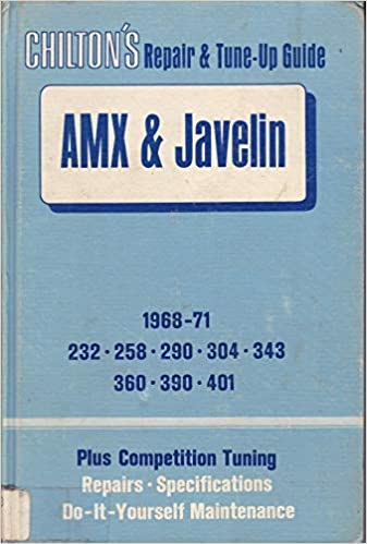 Tune Up Prices >> Buy Repair And Tune Up Guide For The A M X And Javelin Book