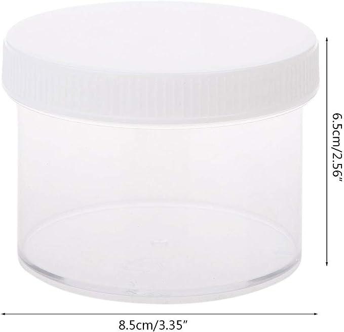 Cuigu 200/ML Caja de sede de Recipiente de almacenaje para el Lodo de Lodo de Espuma de plastilina de Arcilla Ligera