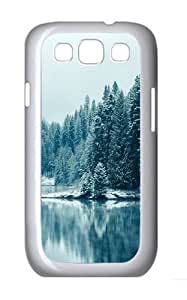 Snow Pines Winter Lake iOS Custom Hard Back Case Samsung Galaxy S3 SIII I9300 Case Cover - Polycarbonate - White