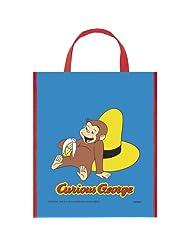 Unique Large Plastic Curious George Favor Bag, 13-Inch X 11-Inch