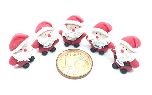 5 Pieces of Miniature Dollhouse Santa Clauses, 0.4