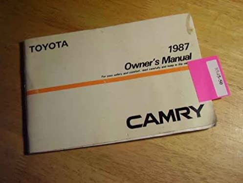 1987 toyota camry owners manual toyota amazon com books rh amazon com toyota camry owners manual 2014 toyota camry owners manual pdf