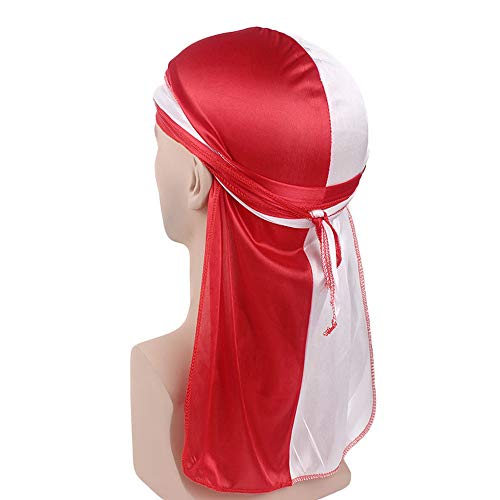 Era Satin Hat - Egmy Clearance Sale ❤️ Newest Two-Color Artificial Silk Long Tail Scarf Cap Silk Satin Pirate Hat Long Tail Scarf Hat (E)