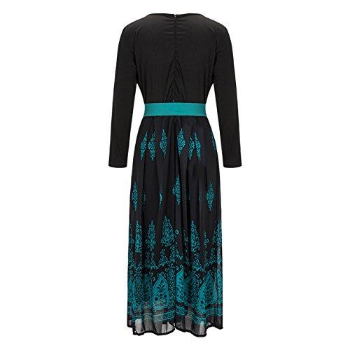 Damen-Art Und Pullikleid Weise Beiläufiger Freizeitkleid V-Kragen Ballkleid Printing Blusenkleider langarm tutu Kleid