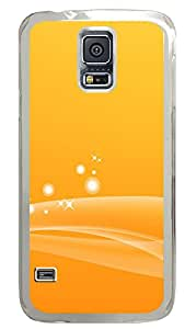 Samsung Galaxy S5 Cases & Covers - Orange Tone Background PC Custom Soft Case Cover Protector for Samsung Galaxy S5 - Transparent