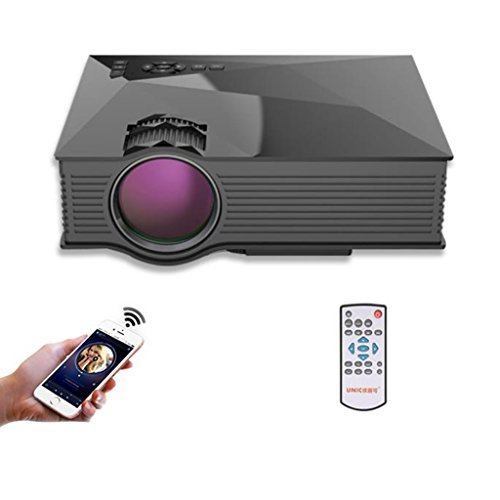 Black Friday Projector, Lary Intel UNIC UC46 Household LED Video Portable Mini Home Projector,with WIFI Ready Free 1080P HDMI,Support Cinema Theater TV Laptop Game SD iPad iPhone Android Smartphone