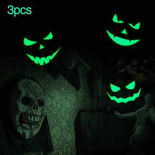 Marsway Halloween Decor Removable Glow In The Dark Stickers Glow Wall Night Luminous Decals Fluorescent Wall Decorations (Devil ()