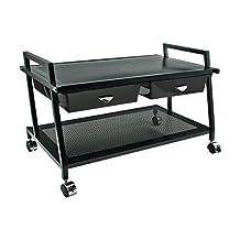 Vertiflex Mobile Underdesk Machine Stand with Supply Drawers, 25x15x15-Inch, Black, VF95530