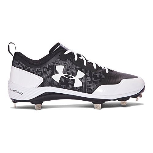 Under Armour Men's UA Heater Low ST Baseball Cleats Black/ White hot sale PDDZkA