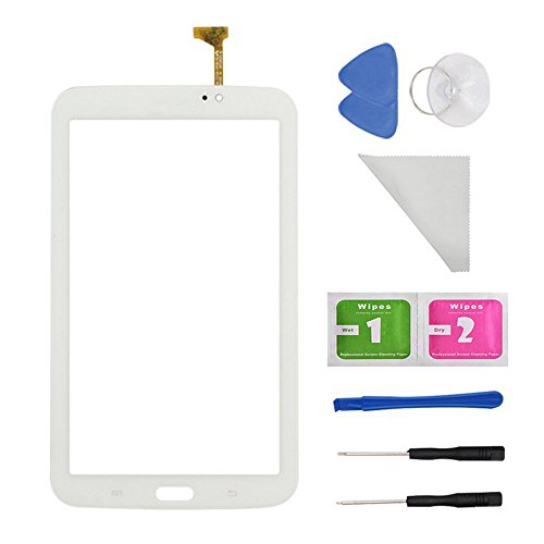 WhiteTouch Digitizer Screen Replacement for Samsung Galaxy Tab 3 7.0 SM-T210 T210R T210L T217S 217A(WIFI Ver.No Speaker Hole) + PreInstalled Adhesive with tools by first choose