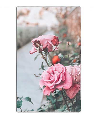 hodmadod Microfiber 64X32 Beach Towel Bath Towel Rose Pink Bud Flower - Stem Towel Rose