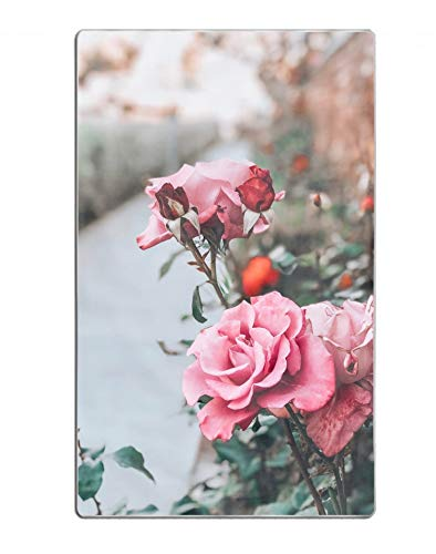 Rose Towel Stem - hodmadod Microfiber 64X32 Beach Towel Bath Towel Rose Pink Bud Flower Stem