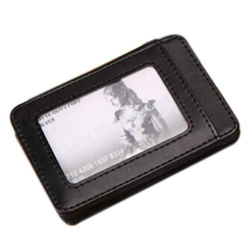 Casual Man Pelle Carte Black D'identità Portafogli Magic Portafoglio Porta Barlingrock Minimalista Bifold Portafoglio Mini In Tasca 1xwvRv