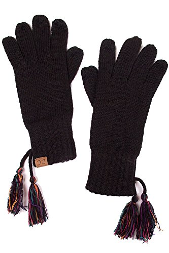 ScarvesMe CC Two Tone Double Layer Gloves with Tassel (Multi) by ScarvesMe (Image #1)