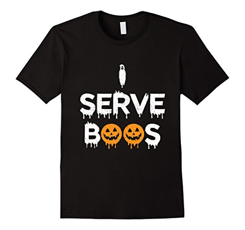 [Mens This Is My Bartender Costume Shirt Gift | I Serve Boos Shirt XL Black] (Bartender Costume Male)