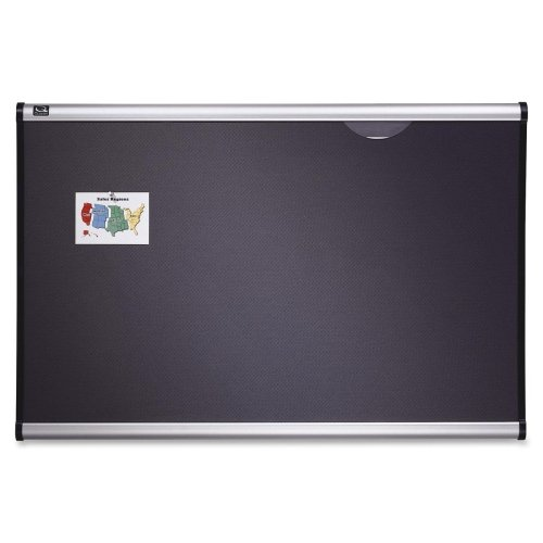 Quartet Prestige Plus Gray Diamond Mesh Bulletin Board - 24