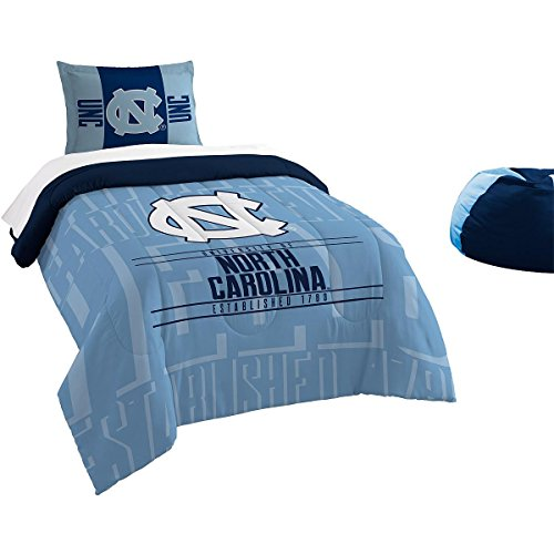 Officially Licensed NCAA North Carolina Tar Heels Modern Take Twin Comforter and Sham (Comforter Carolina)