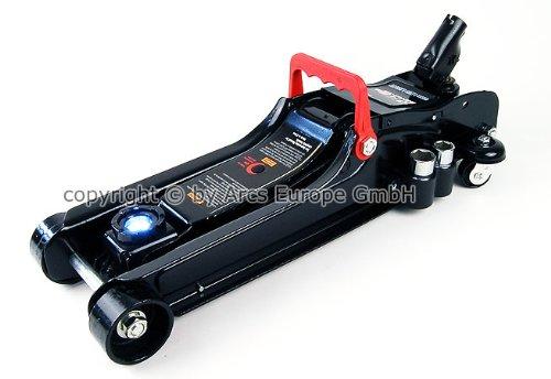 [TT600K] Wagenheber 2,25T Low Profile RacingWagenheber 80mm - 365mm mit LED, TÜV GS für Racing-Sportwagen, Rennsport
