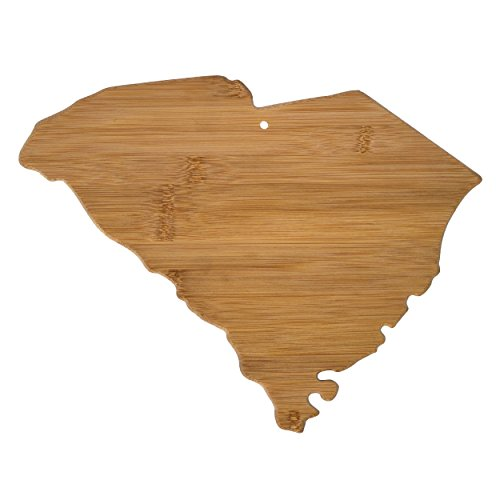 Totally Bamboo 20-7982SC South Carolina State Shaped Bamboo Serving & Cutting Board,