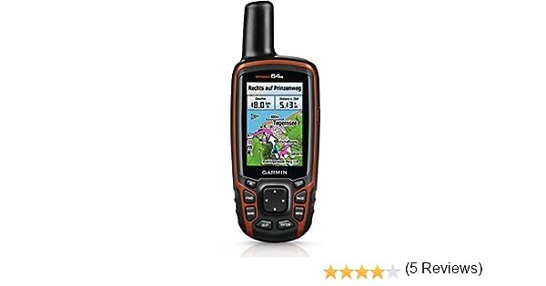 Garmin Navegador Uni GPSMAP 64s + Topo Transalpin + Navegación a Mano Dispositivo, Negro/Naranja, M: Amazon.es: Deportes y aire libre